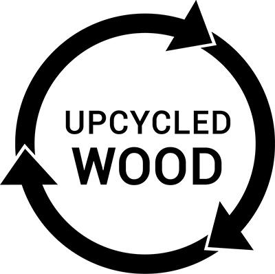 Logo upcycled wood