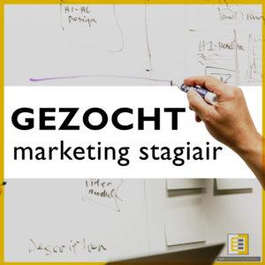 gezocht marketing stagiair